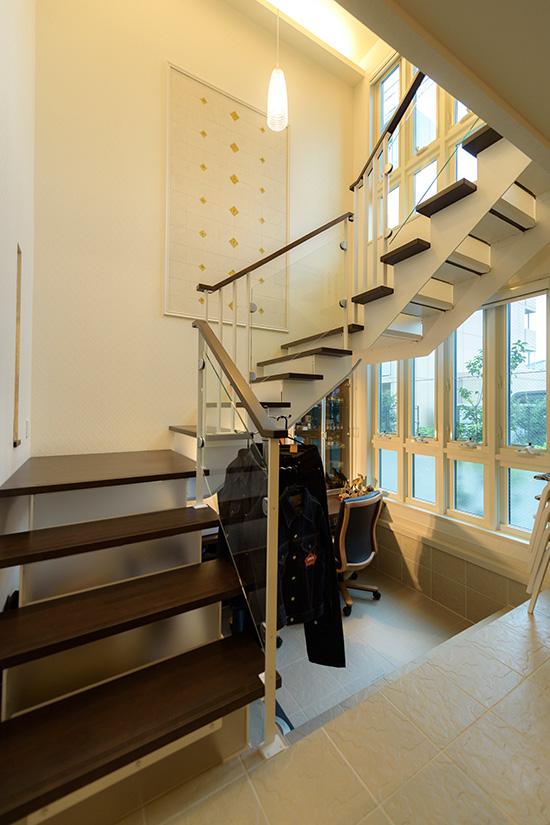 セキスイハイムのリビング階段